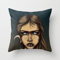 Nocturnal Warrior Throw Pillow
