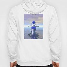 Blue Sci Fi Structure Hoody