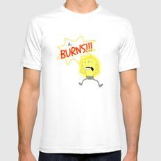Light Bulb Mens Fitted Tee White SMALL