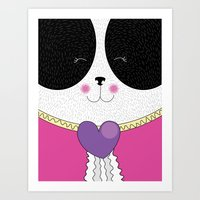 Lovely Panda Girlfriend!… Art Print