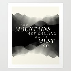 Mountains - BW Art Print