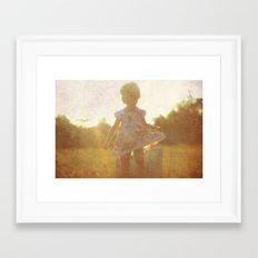 Little Silhouette Framed Art Print