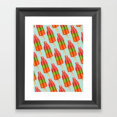 Popsicle Pattern- Spicy … Framed Art Print