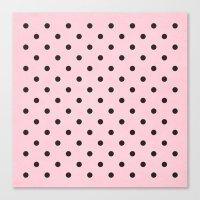 Polka Party Blush Canvas Print