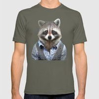 Racoon Mens Fitted Tee Lieutenant SMALL