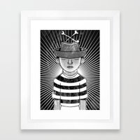 Fisher Man B/W Framed Art Print