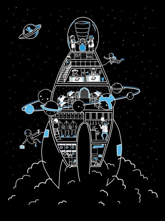 Interstellar Travels Art Print