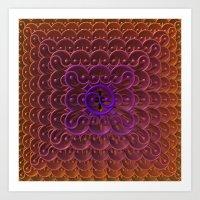 Endless Yin Yang Art Print