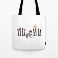 Owl in the City of Hearts Tote Bag
