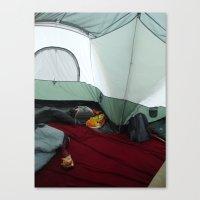 Camping Gnome Canvas Print