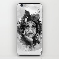 Abstract Portrait Blk/Wht iPhone & iPod Skin