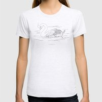 Smoking Swan Womens Fitted Tee Ash Grey SMALL