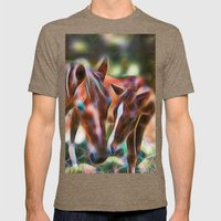 Horse Kisses Mens Fitted Tee Tri-Coffee SMALL