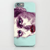 Scary Dirty Face with Red Lips iPhone 6 Slim Case