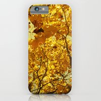 iPhone & iPod Case featuring Beneath Leaves of Gold by V. Sanderson / Chickens in the Trees