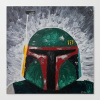 Boba Fett Palette Knife … Canvas Print