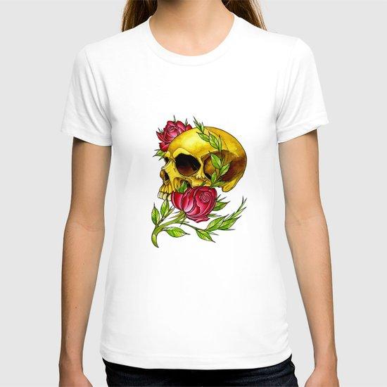 trad skull w rose T-shirt