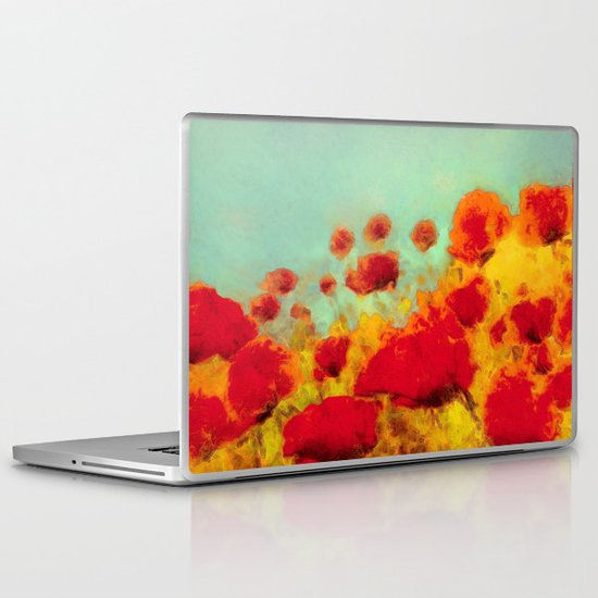 FLOWERS - Poppy time Laptop & iPad Skin