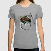 Indian Woman Womens Fitted Tee Tri-Grey SMALL