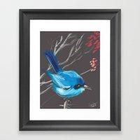 Little Blue Fairy Framed Art Print
