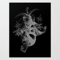 Sweet monkey in space Art Print