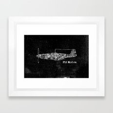 North American P51 Musta… Framed Art Print