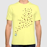 Love is in the air Mens Fitted Tee Lemon SMALL