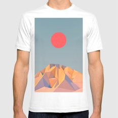Sun on Mountain Mens Fitted Tee White SMALL