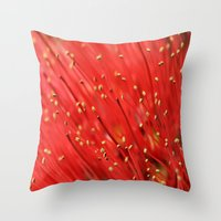 Red  &  Hairy Throw Pillow