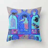 Ye Oldé Grandma Triptyc… Throw Pillow