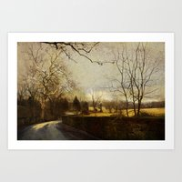 Along The Meadow Art Print