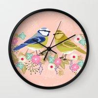 Love Birds Valentines Da… Wall Clock