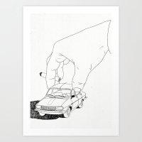 Driving home Art Print