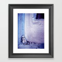 White Framed Art Print