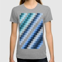 Fuzz Line #2 Womens Fitted Tee Tri-Grey SMALL