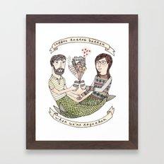 Coffee Tastes Better Framed Art Print