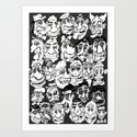 Quite a Crowd Art Print