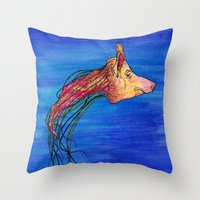Jellypig Throw Pillow