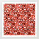 l o v e LOVE red Art Print