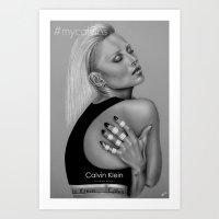 #MyCalvinsKateMoss Art Print