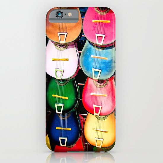 Colorful Wooden Guitars iPhone & iPod Case
