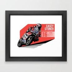 Casey Stoner - 2016 Sepang Framed Art Print