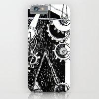 iPhone & iPod Case featuring machine by Agata Kowalska