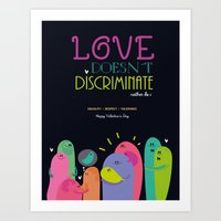 Love Doesnt Discriminate… Art Print