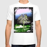Crazy Tree Mens Fitted Tee White SMALL