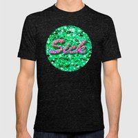 Sick Mens Fitted Tee Tri-Black SMALL