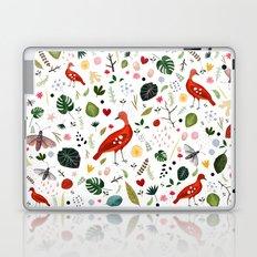 red bird pattern Laptop & iPad Skin