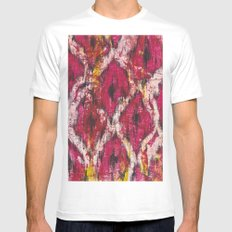 Ikat1 White SMALL Mens Fitted Tee