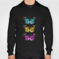 3 colorful butterflies Hoody
