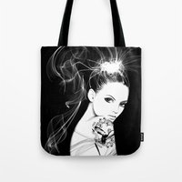 Smoke Girl Tote Bag